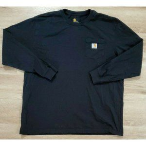 Carhartt Mens Workwear Pocket Black T-Shirt XL